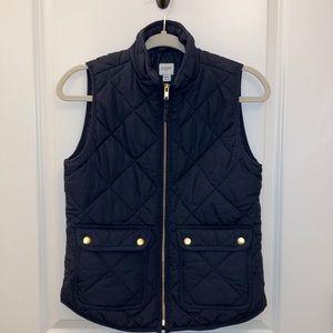 J . Crew Navy puffer vest XS